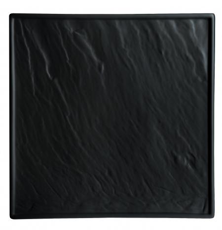 Блюдо квадратное «Organic Black» 21x21cм