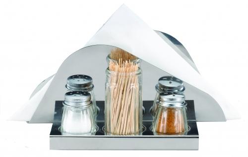 Набор для специй (3 предмета + салфетница)