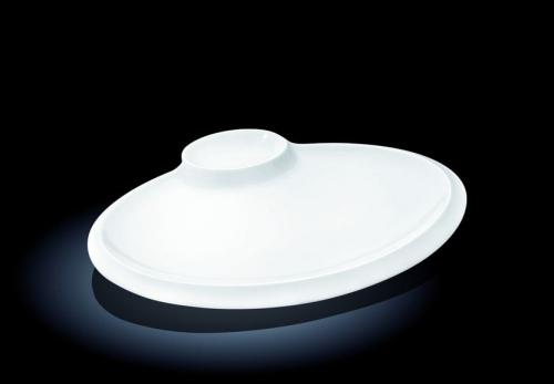 Блюдо овальное l=300*230 мм. с соусником Wilmax /3/18/