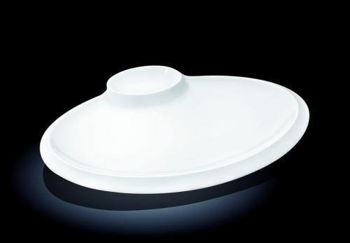 Блюдо овальное l=350*270 мм. с соусником Wilmax /3/12/