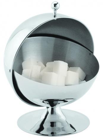 Сахарница металлическая «Шар» с откидной крышкой V=300 мл