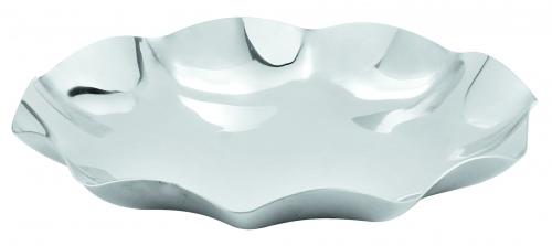 Блюдо круглое металлическое с волнистым краем «Kamspring»  ∅, см 27,5