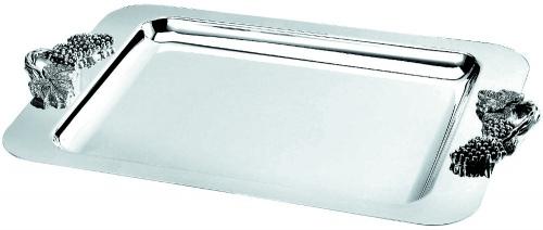 Блюдо прямоугольное металлическое с декоративными ручками «Regent» L/W, см 50/31