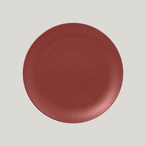 Тарелка NeoFusion Magma круглая плоская, 24 см (бордовый цвет)