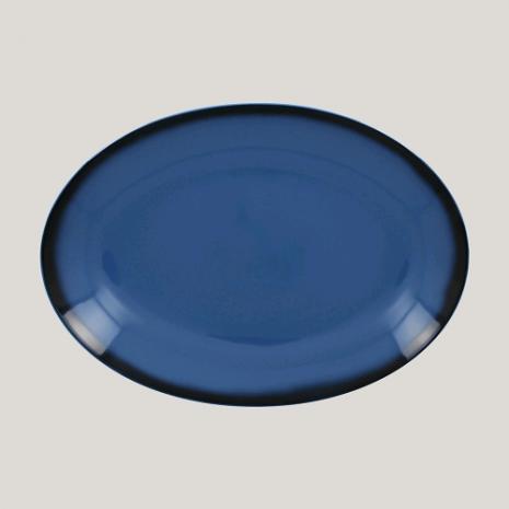 Блюдо овальное, 26см (синий цвет)