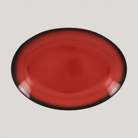 Блюдо овальное, 26см (красный цвет)