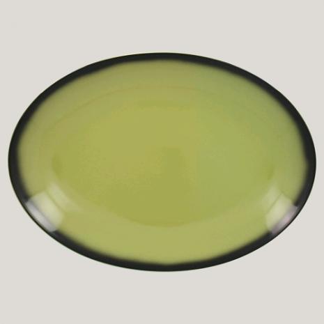 Блюдо овальное, 32см (зеленый цвет)