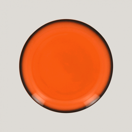 Тарелка круглая, 24см (оранжевый цвет)