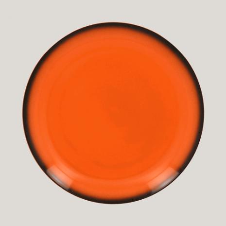 Тарелка круглая, 27см (оранжевый цвет)