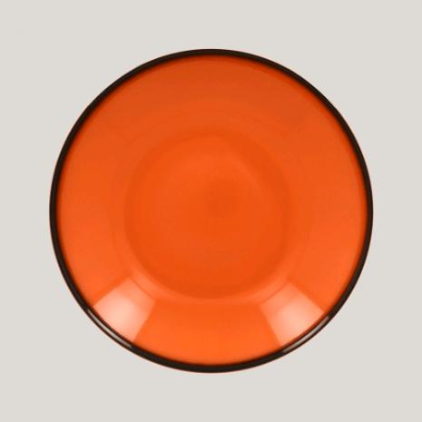 Тарелка глубокая, 26см (оранжевый цвет)