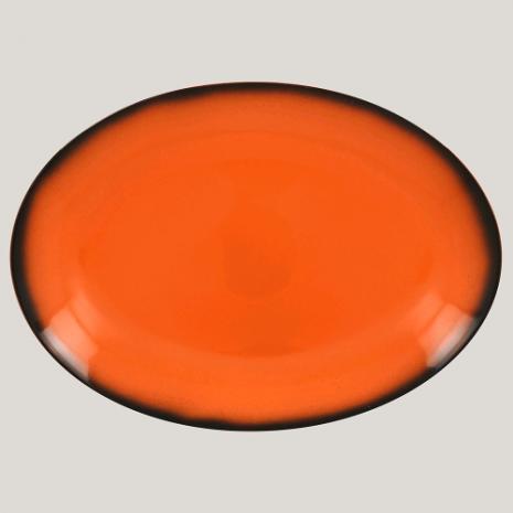 Блюдо овальное, 32см (оранжевый цвет)