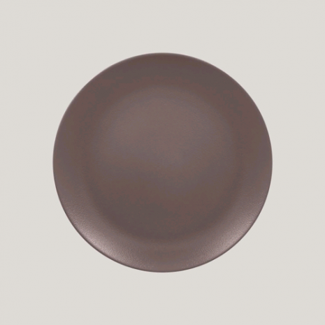 Тарелка круглая плоская 27 см, NeoFusion Mellow Chestnut brown