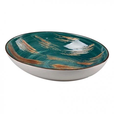 Салатник Texture Dark Green Lines 25*16*6 см 700 мл