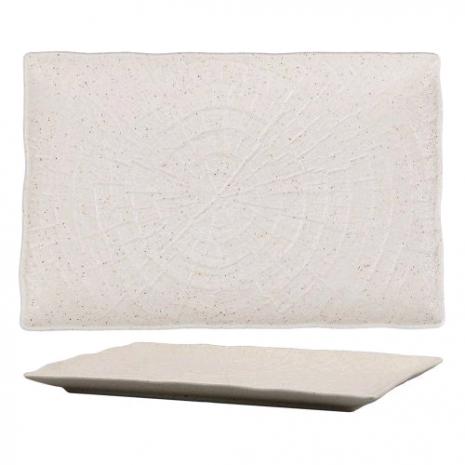 Блюдо прямоугольное для подачи Elephant Ivory 24*17*1,8 см