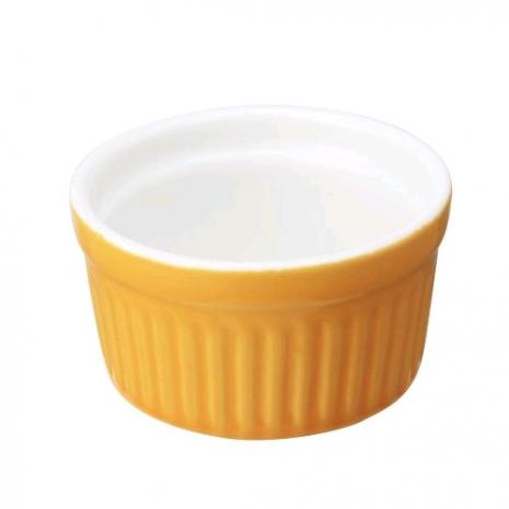 Соусник оранжевый 6 см, фарфор