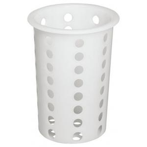 Емкость для столовых приборов (стакан) d=95 мм. h=130 мм. перфор. белый пластик MG /1/17/