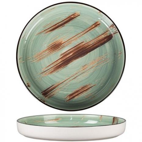 Тарелка с бортом Texture Light Green Lines 23 см