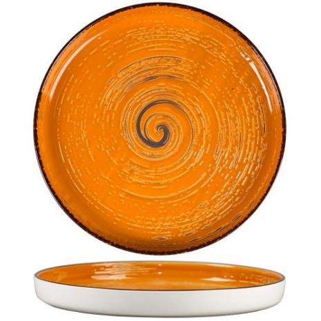 Тарелка с бортом Texture Yellow Circular 28 см