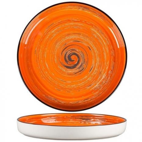 Тарелка с бортом Texture Orange Circular 23 см