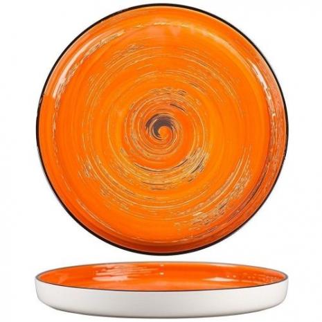 Тарелка с бортом Texture Orange Circular 28 см