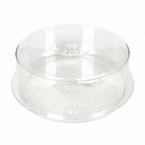 Подставка для торта круглая с крышкой d 34 см