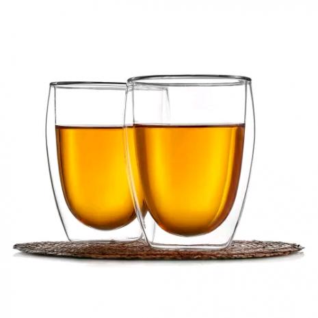 """Стакан с двойными стенками """"Ландыш"""", прозрачное стекло, 350 мл, P.L. Proff Cuisin"""