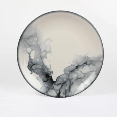 GBSEO17DUR360 Тарелка Круглая D=17 См., Плоская, Фарфор Цвет Мрамор, Marble R360