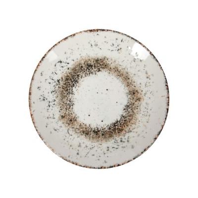 GBSEO17DUR1515 Тарелка Круглая D=17 См., Плоская, Фарфор,Цвет Бежевый, Crumbs R1515