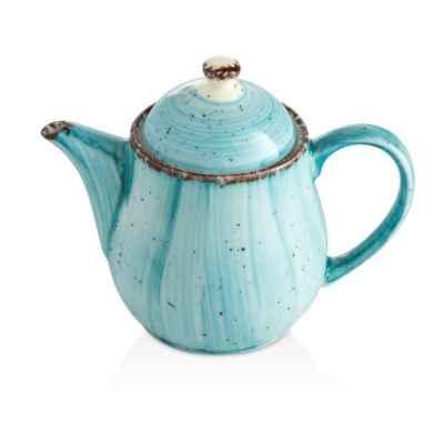 Чайник Фарфоровый (675мл)67.5cl., Фарфор, Цвет Голубой