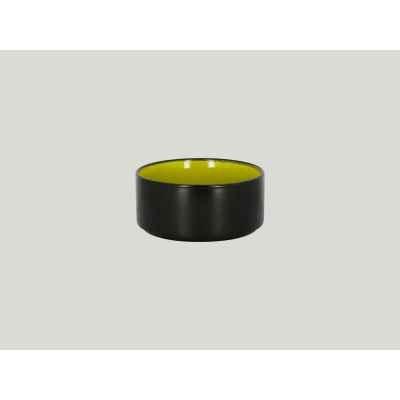 Салатник Круглый, Цвет Чёрный/Зеленый D=12 H=5см., (0.48л)48 Cl