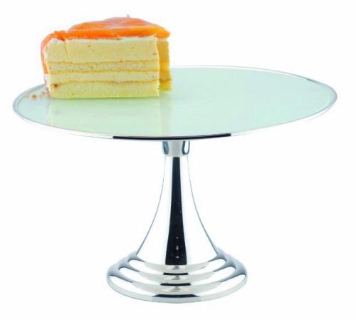 Подставка для торта,пирож.на ножке нерж.d=30 h=17см