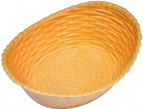 Хлебница пластиковая овальн.беж.210*165*68