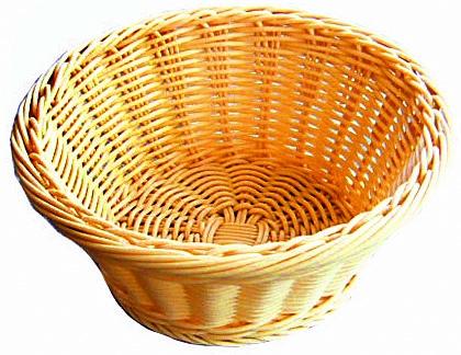 Хлебница плетен.ротанг беж.круглая d=18.5.h=7.5