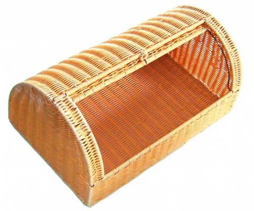 Подставка д/хранения хлеба плетен.ротанг.беж.53*33*23см