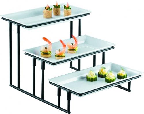 Горка сервиров.мет + три блюда в комплекте (36*19см) д/выкладки