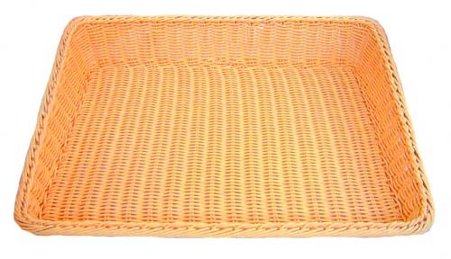 Подставка д/выкладки выпечки плетен.ротанг беж.прямоуг.61*45*5*12