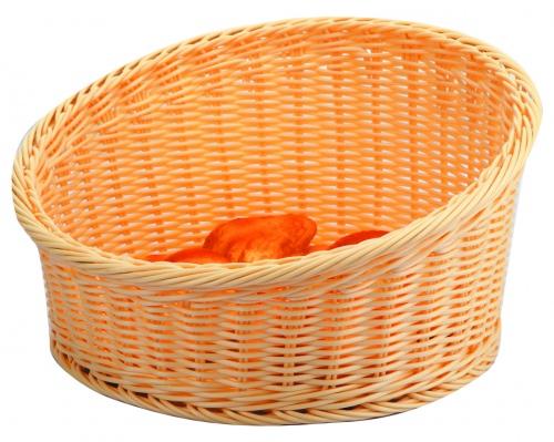 Подставка плетен.д/выкладки выпечки беж.круглая d=40/h=10см