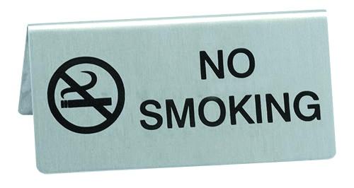 Настольная табличка металлическая «No smoking»