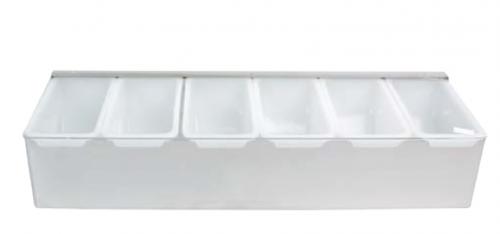 Контейнер для фруктов в металлическом корпусе 4 ячейки
