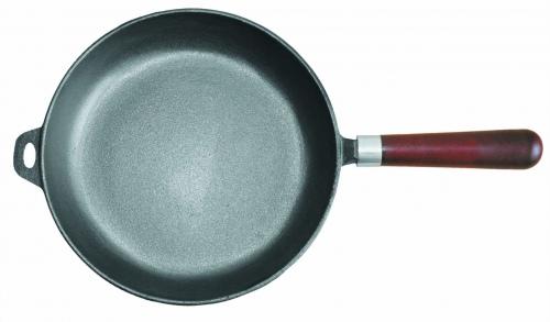 Сковорода чугунная с дерев. ручкой ∅, см 30