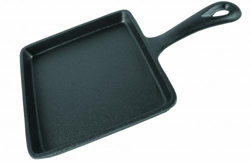 Сковорода чугунная порционная (квадратная)  14X14см h-1,5см