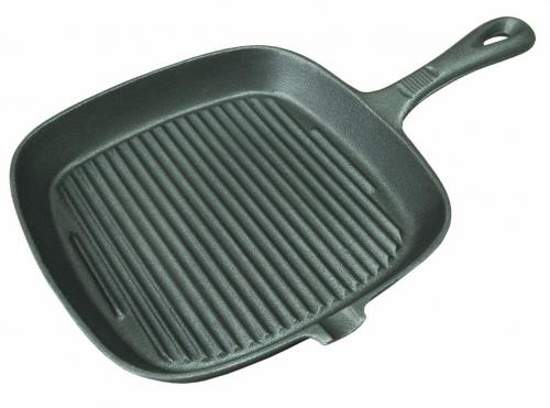 Сковорода чугунная гриль см 24*24 см