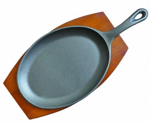 Сковорода для фахитос овальная с ручкой 23х13 см