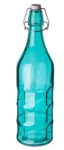 Бутылка цветная с крышкой 1л (Blue)  P.L.