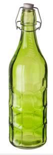 Бутылка цветная с крышкой 1л (Green)  P.L.