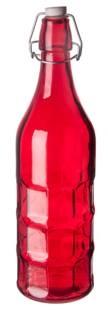 Бутылка цветная с крышкой 1л (Red)  P.L.