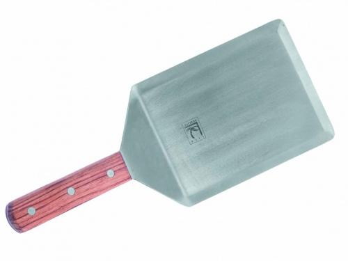 Лопатка с острыми краями с деревянной ручкой, нерж. сталь Премиум L=16 см W= 12,5 см