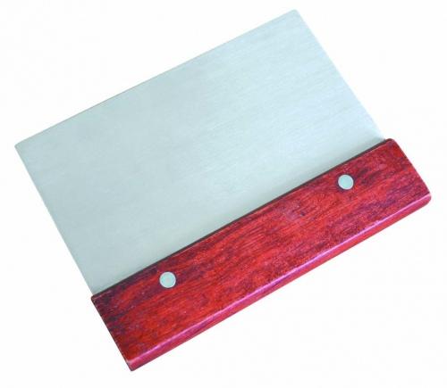 Скребок с деревянной ручкой, нерж. сталь L=15 см W= 8 см