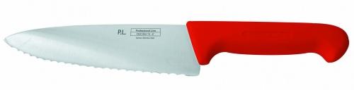 Нож поварской с волнистым лезвием, красный L=20 см