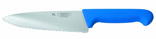 Нож поварской с волнистым лезвием, синий L=25 см